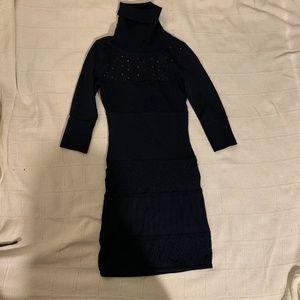 Catherine Maladrino Turtleneck Dress